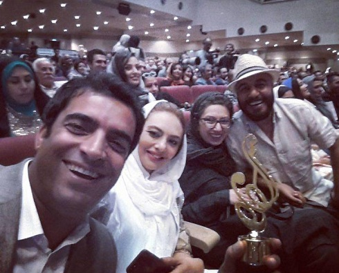 رضا عطاران, منوچهر هادی و یکتا ناصر در جشن حافظ