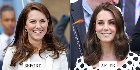 مدل مو جدید کیت میدلتون Kate Middleton