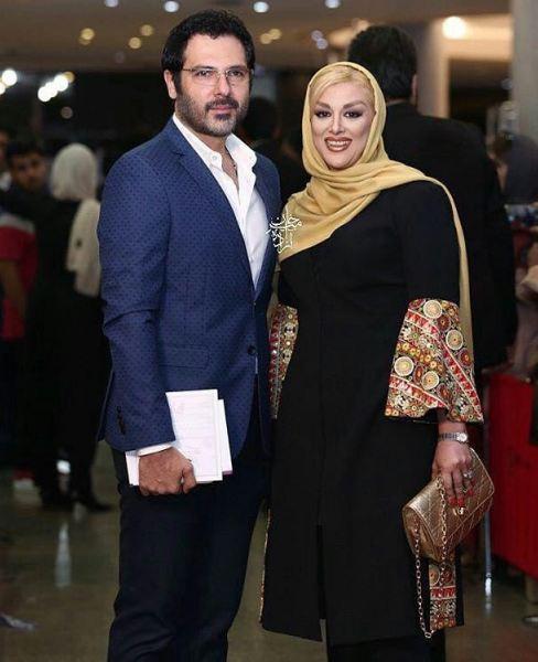 کوروش تهامی به همراه همسرش در جشن حافظ