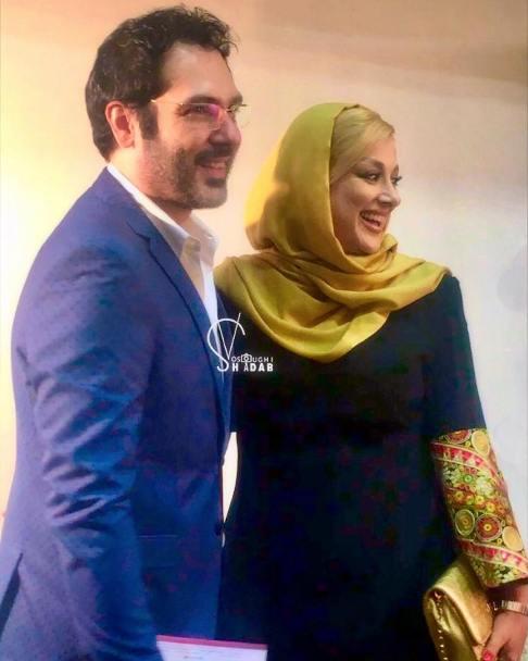 چهره خندان کوروش تهامی و همسرش