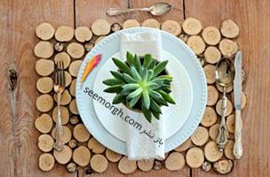با شاخه درختان یک زیر بشقابی چوبی زیبا درست کنید