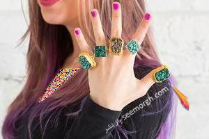 انگشترهای قدیمی را با نگین های کهنه تزیین کنید