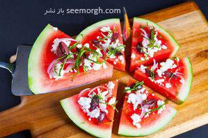 شب یلدا با پیتزاهای هندوانه ای از میهمانان تان پذیرایی کنید!!