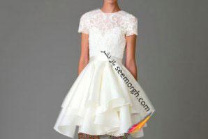 لباس عروس کوتاه در هفته مد لندن با مدل هایی خاص و متفاوت!!