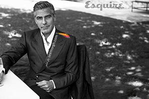 عکسهای متفاوت جرج کلونی روی مجله اسکوئر