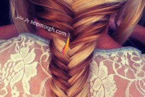 موهای تان را به روش تیغ ماهی ببافید!! + آموزش تصویری مرحله به مرحله