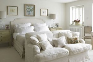 10 دکوراسیون اتاق خواب سفید برای خانه ای دلباز!!