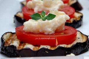 لقمه بادمجان و پنیر، یک پیش غذای آسان و باکلاس