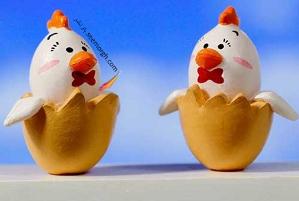 تزیین تخم مرغ سفره هفت سین به شکل خروس