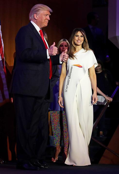 پیراهن ملانیا ترامپ Mela Trump - عکس شماره 7