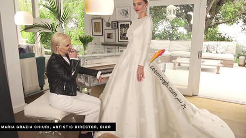 لباس عروس میراندا کر Miranda Kerr و طراح لباس عروس اش