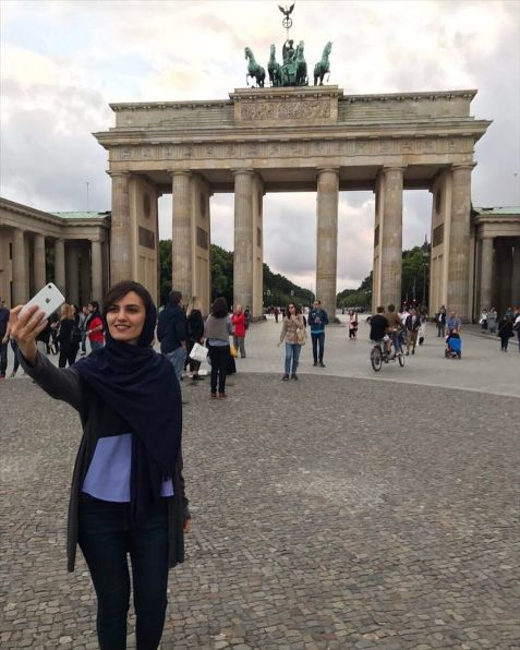 میترا حجازی پور در برلین آلمان
