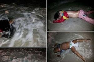 مرگ کودکان بی گناه در دریای مدیترانه + عکس(۱8+)!
