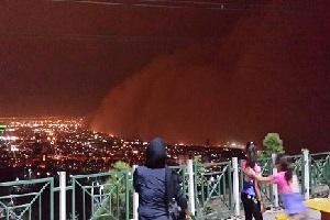 عکس های ترسناک از محو شدن تهران در طوفان دیشب!