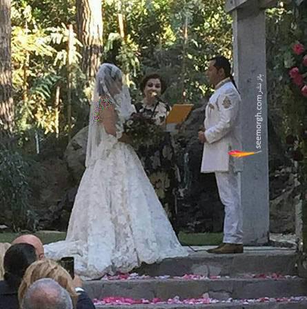 عکس همسر حامد نیک پی در لباس عروس عروسی حامد نیک پی و همسرش