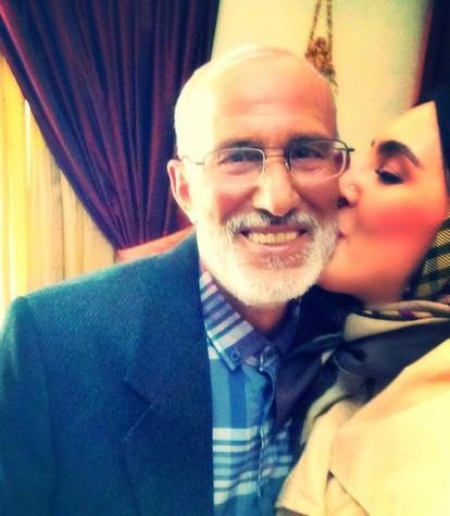 عکس لیلا بلوکات و پدرش