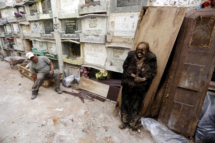 عکس هایی عجب از شغل درآوردن مرده از گور! 18+