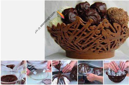 کاسه شکلاتی را با دستور زیر درست کنید