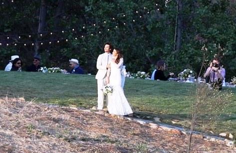 مراسم ازدواج ایان سامرهلدر و همسرش نیکی رید