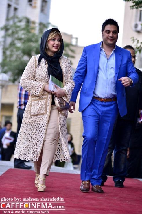 نیوشا ضیغمی و همسرش