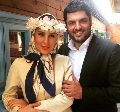 """سام درخشانی و همسرش """"عسل"""""""