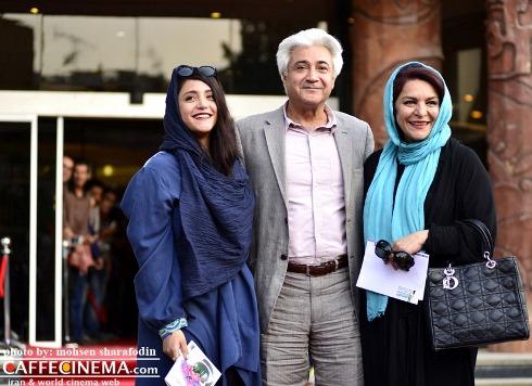 تهمینه میلانی و همسرش محمد نیک بین و دخترشان