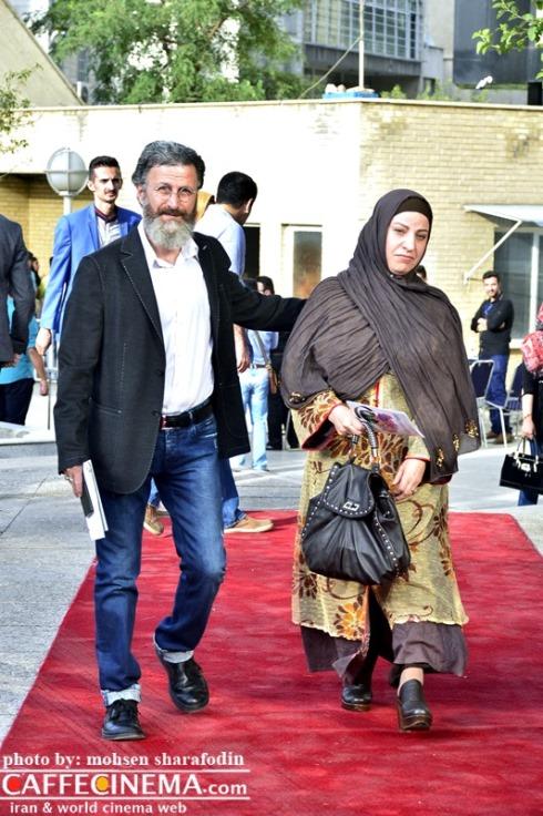 بهرام عظیمی و همسرش