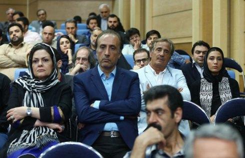 محمدرضا حیاتی و همسرش در ضیافت افطار حسن روحانی