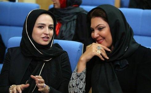 ستاره اسکندری و گلاره عباسی در ضیافت افطار حسن روحانی