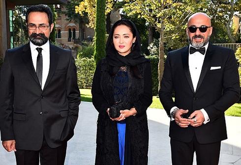 عکس امیر آقایی، نیکی کریمی، وحید جلیلوند در فرش قرمز جشنواره ونیز