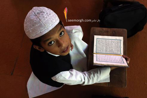 قرآن خواندن یک پسر هندی در ماه مبارک رمضان