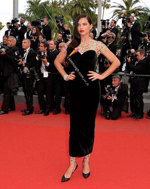 Adriana Lima بهترین مدل لباس در جشنواره کن 2015