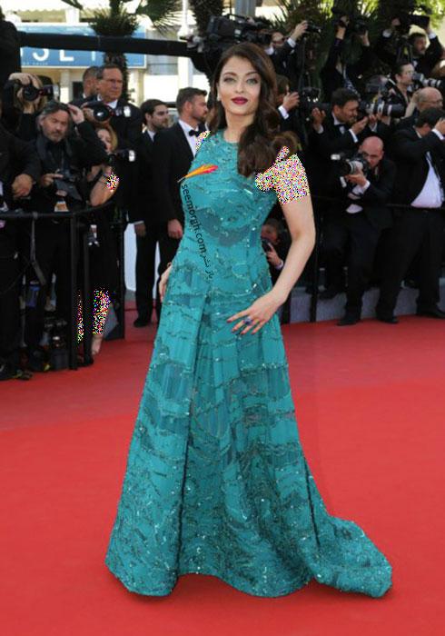 مدل لباس آیشواری رای Aishwarya Rai در جشنواره کن 2015