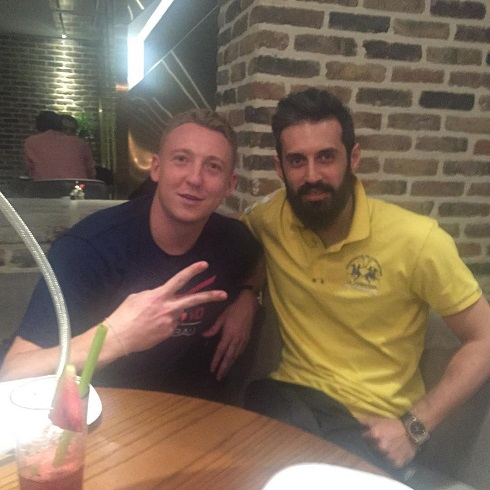 تهران گردی سعید معروف و ستاره والیبال روسیه + عکس!