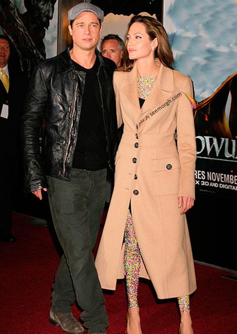 لباس طراحی شده اسکادا Escada برای آنجلینا جولی Anjelina jolie و برد پیت Brad Pitt