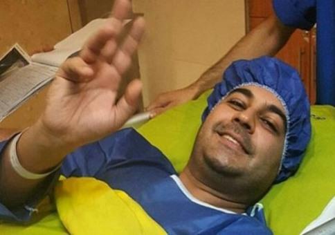 عکسی که گفته می شود پس از عمل جراحی از بهنام صفوی گرفته شده است