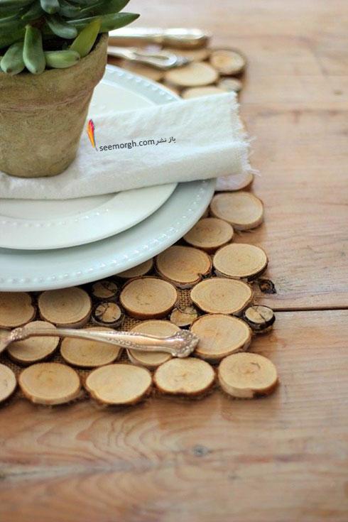 زیربشقابی چوبی