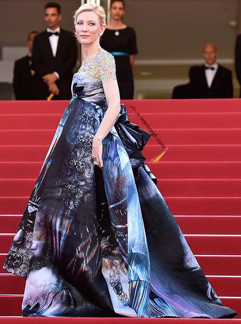 مدل لباس کیت بلانشت Cate Blanchett در جشنواره کن 2015
