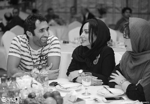 عکس پرستو صالحی و هادی کاظمی در رونمایی از آلبوم دارکوب