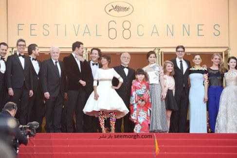 بازیگران فیلم سینمایی شازده کوچولو در فرش قرمز جشنواره کن 2015