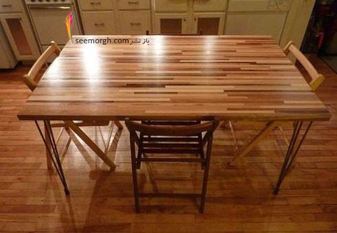 یک میز نهارخوری متفاوت با تخته گوشت درست کنید