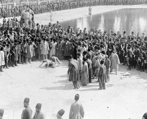 مراسم جشن های نوروز و کشتی باستانی در کاخ گلستان