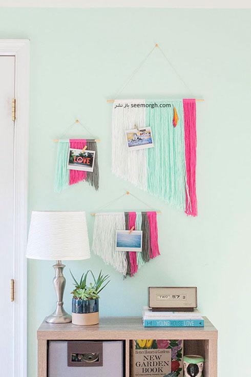 تزیین دیوار اتاق نشیمن با کامواهای رنگی مرحله هشتم