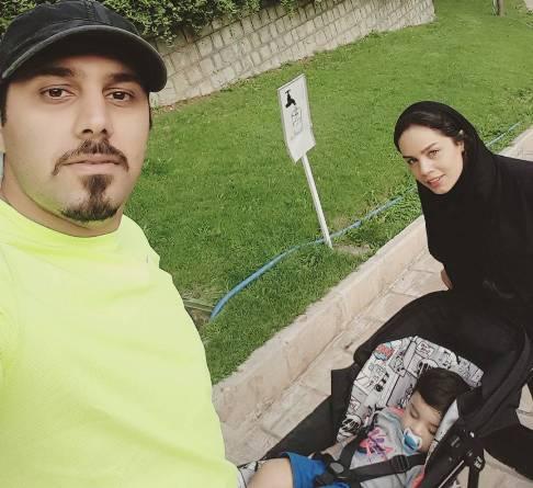 پیاده روی خانوادگی احسان خواجه امیری