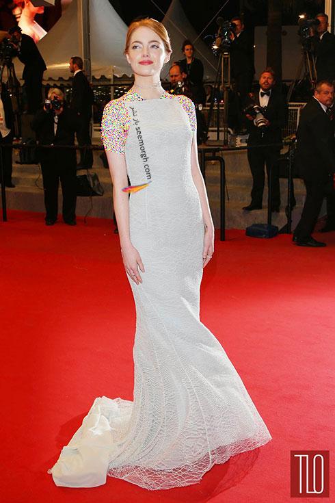 Emma Stone بهترین مدل لباس در جشنواره کن 2015