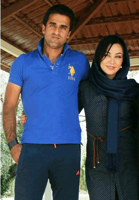 عکس فقیهه سلطانی و همسرش
