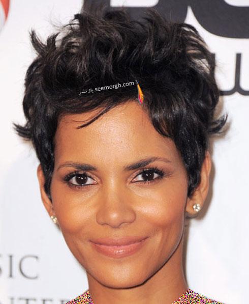 بهترین مدل مو برای موهای مجعد به پیشنهاد Halle Bery