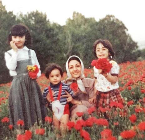 هانیه توسلی و مادرش