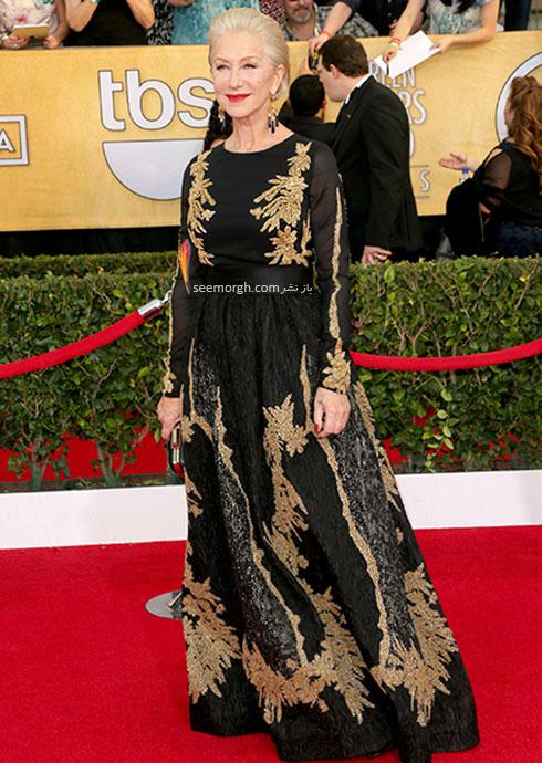 لباس طراحی شده مشکی رنگ اسکادا Escada برای هلن میرن Helen Mirren