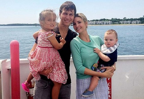 عکس یوانکا ترومپ Ivanka Trump زیباترین میلیونر زن جهان با همسر و فرزندانش